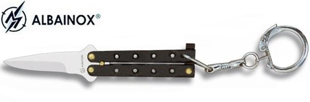 Balisong porte-clé 8,8cm - Couteau papillon noir