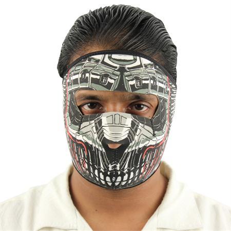 Masque en néoprène airsoft - Design Robot Cyborg