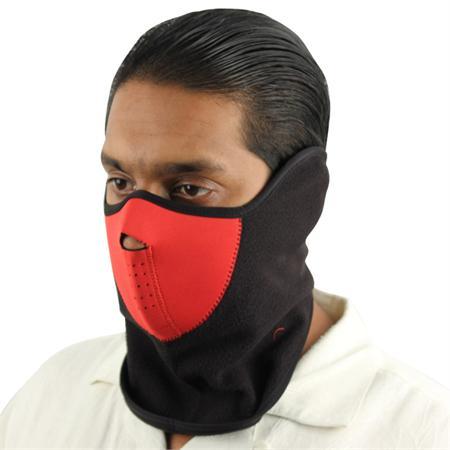 Masque en néoprène airsoft moto - Design rouge et noir