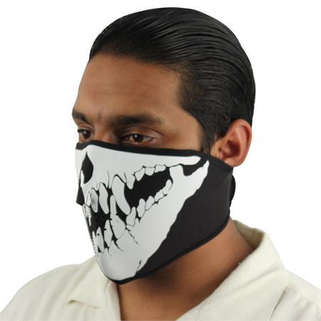 Masque en néoprène, airsoft motard moto - Squelette