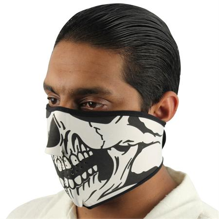 Masque en néoprène, airsoft moto - Design Squelette