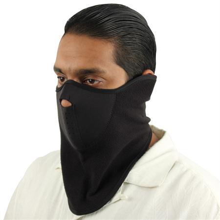 Masque en néoprène, airsoft moto outdoor - Design noir