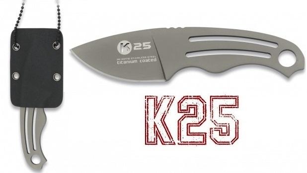 Couteau de cou compact 12cm full tang - K25