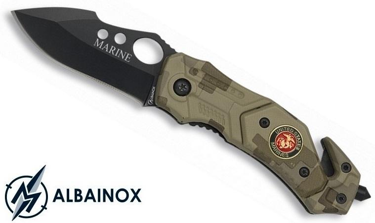 Couteau troupe de marine 15,5cm - camouflage compact