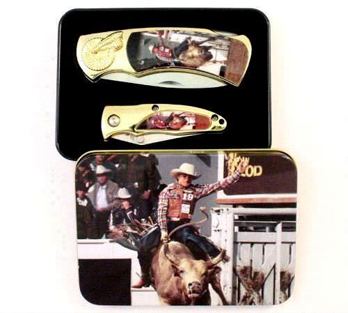 Coffret Rodeo cow-boy, 2 couteaux