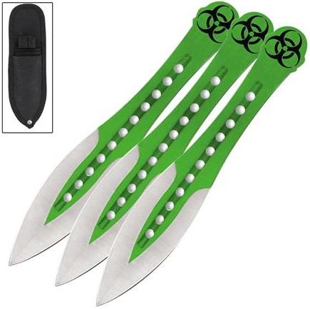 3 Couteaux de lancer 19cm ZOMBIE - Couteau full tang