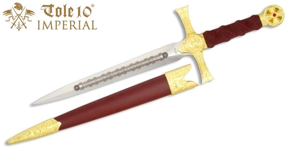 Dague 31cm médiévale noble - IMPERIAL TOLE10