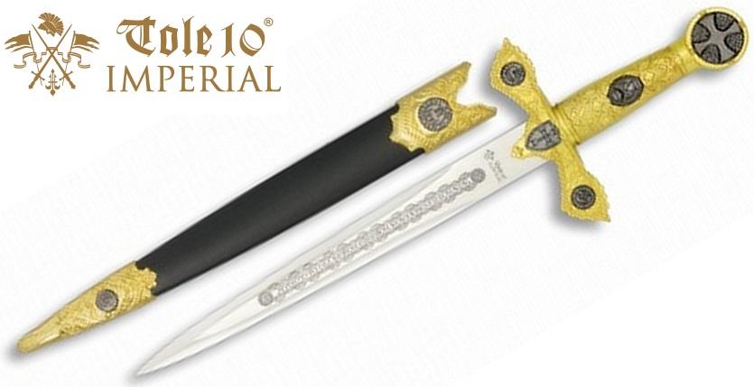 Dague 35,5cm dorée collection - IMPERIAL TOLE10