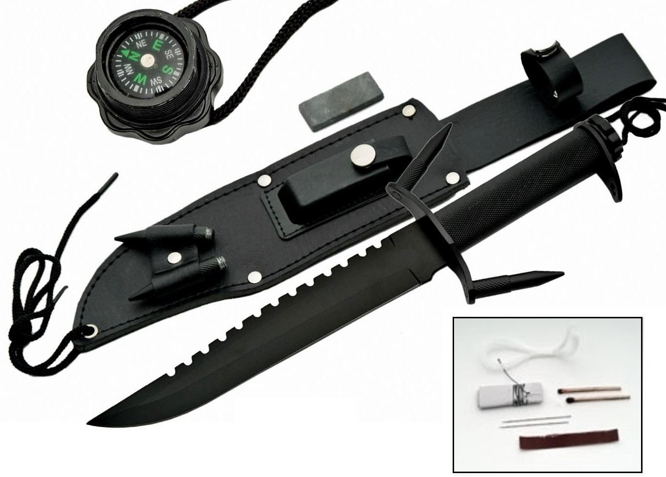 Poignard Marine 35cm + kit de survie - couteau