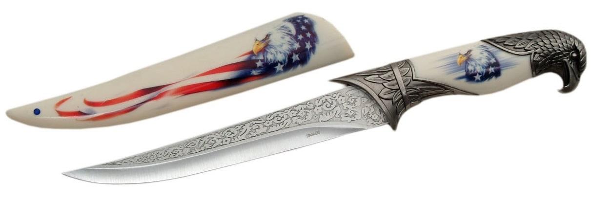 Couteau dague 33cm - Design aigle USA
