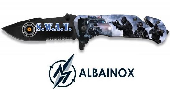 Couteau pliant 19cm S.W.A.T Tactique - ALBAINOX