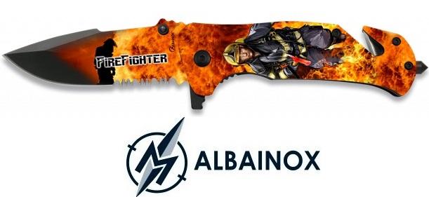 Couteau pliant 19cm Pompier Fire Fighter - ALBAINOX