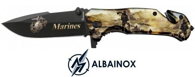 Couteau pliant 19cm Marines USA militaire - ALBAINOX