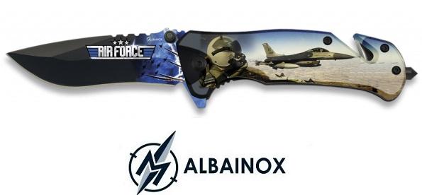 Couteau pliant 19cm Air Force armée de l\'air - ALBAINOX