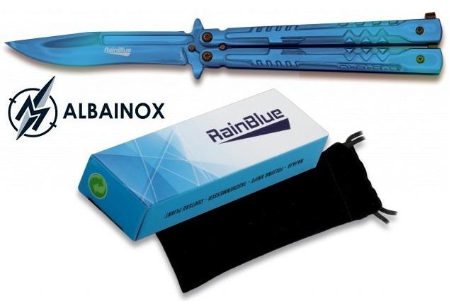 Balisong couteau papillon 22cm bleu nuit - ALBAINOX