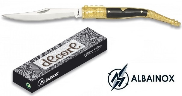 Couteau Navaja 18,8cm ALBAINOX pliant - laiton