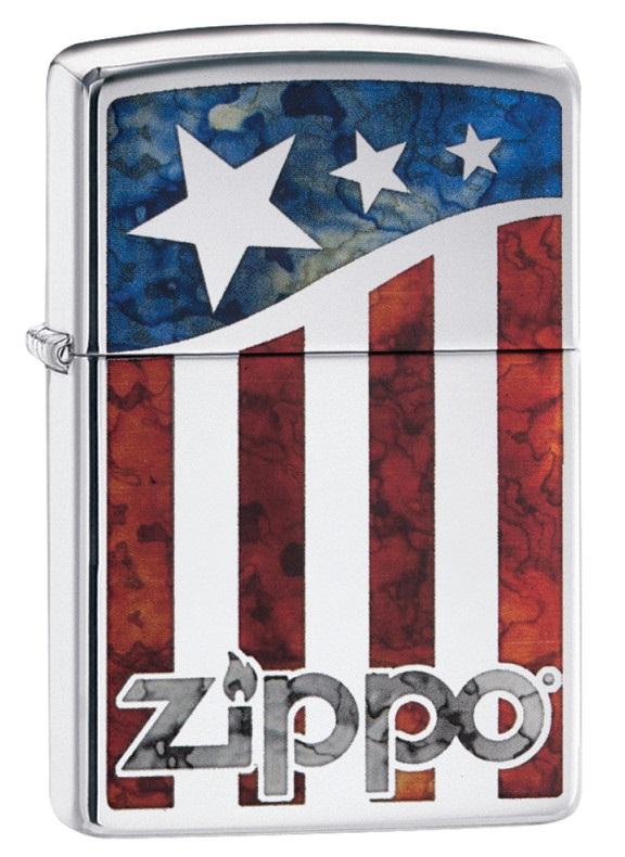 Briquet Zippo officiel - Drapeau américain USA