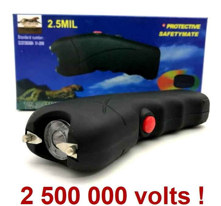 Taser shocker LED 2 500 000 volts ! Tazer + étui inclus