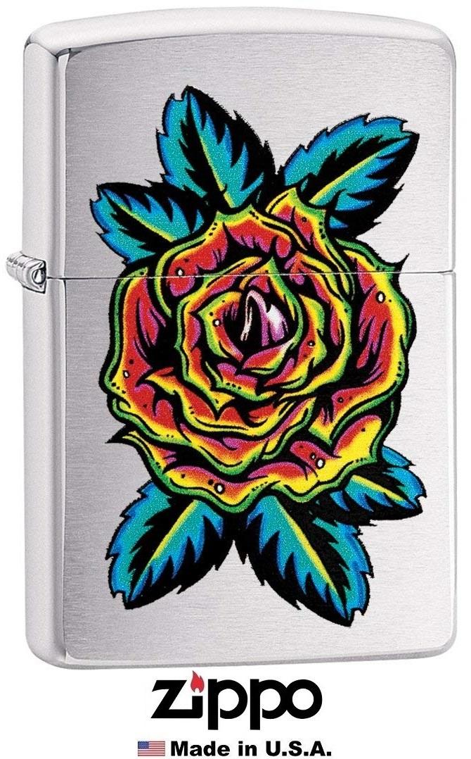 Briquet Zippo officiel - Collection Fleur tatoo