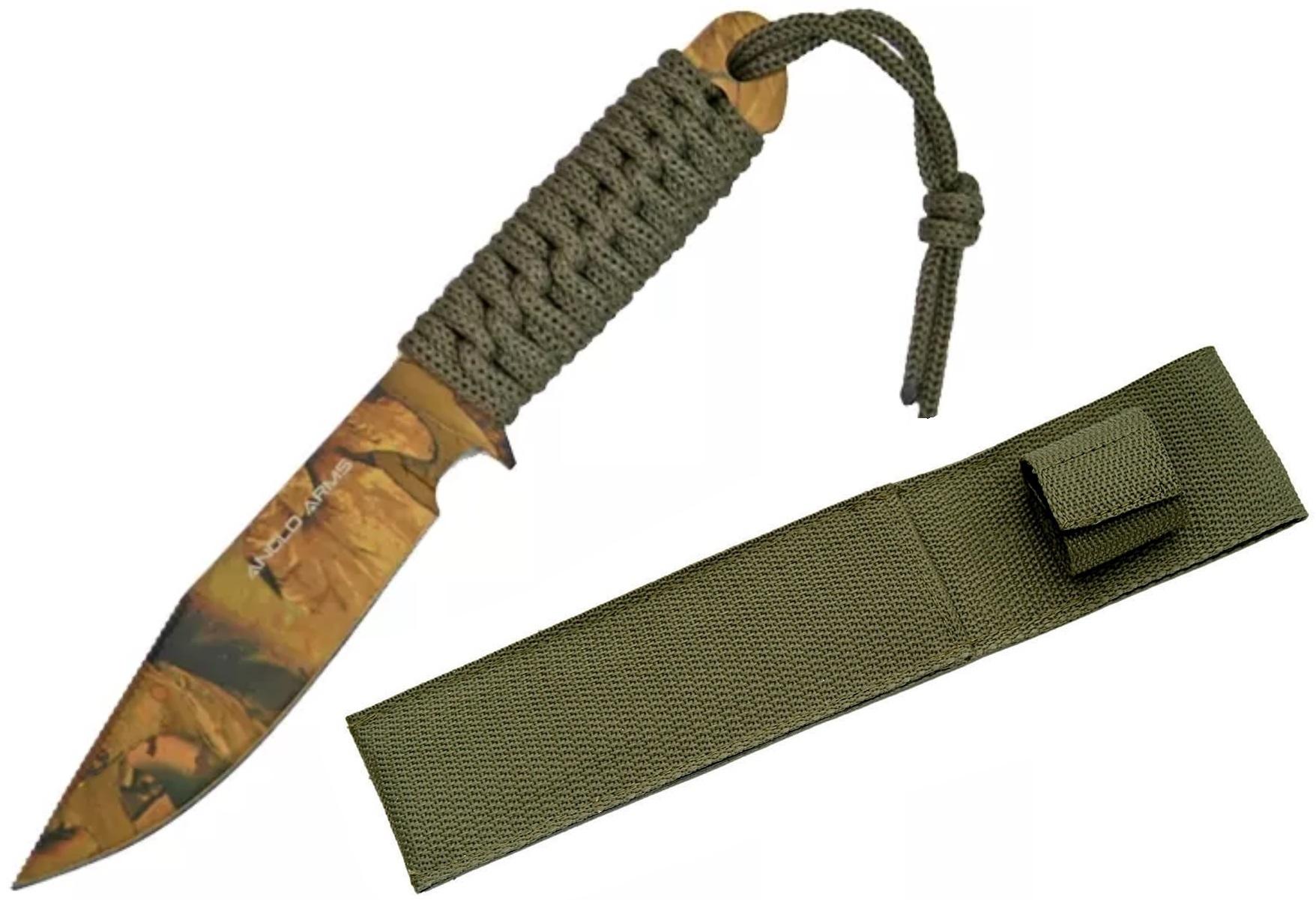 Couteau tactique 19cm full tang - poignard paracorde