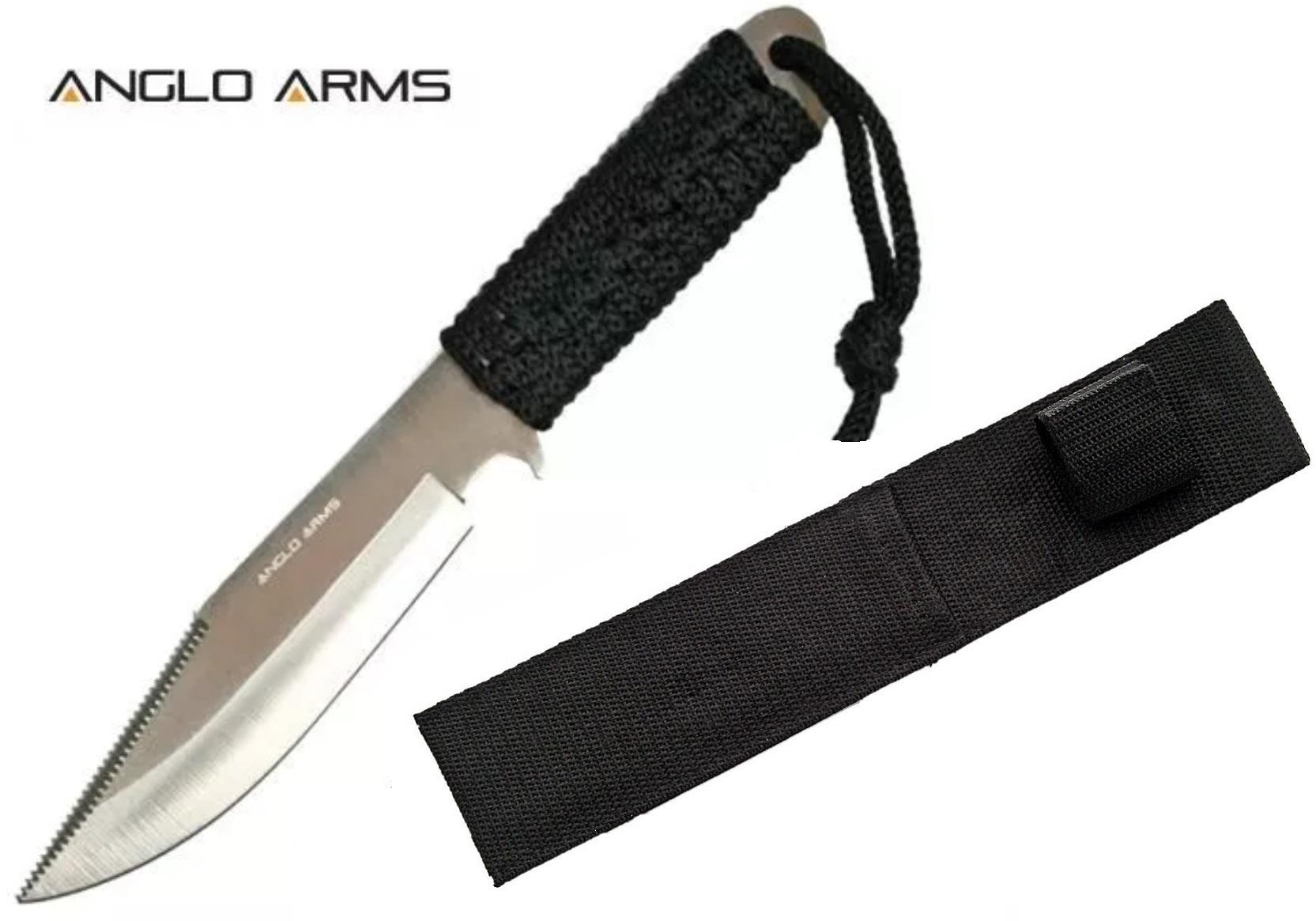 Couteau tactique 19cm paracorde poignard - noir