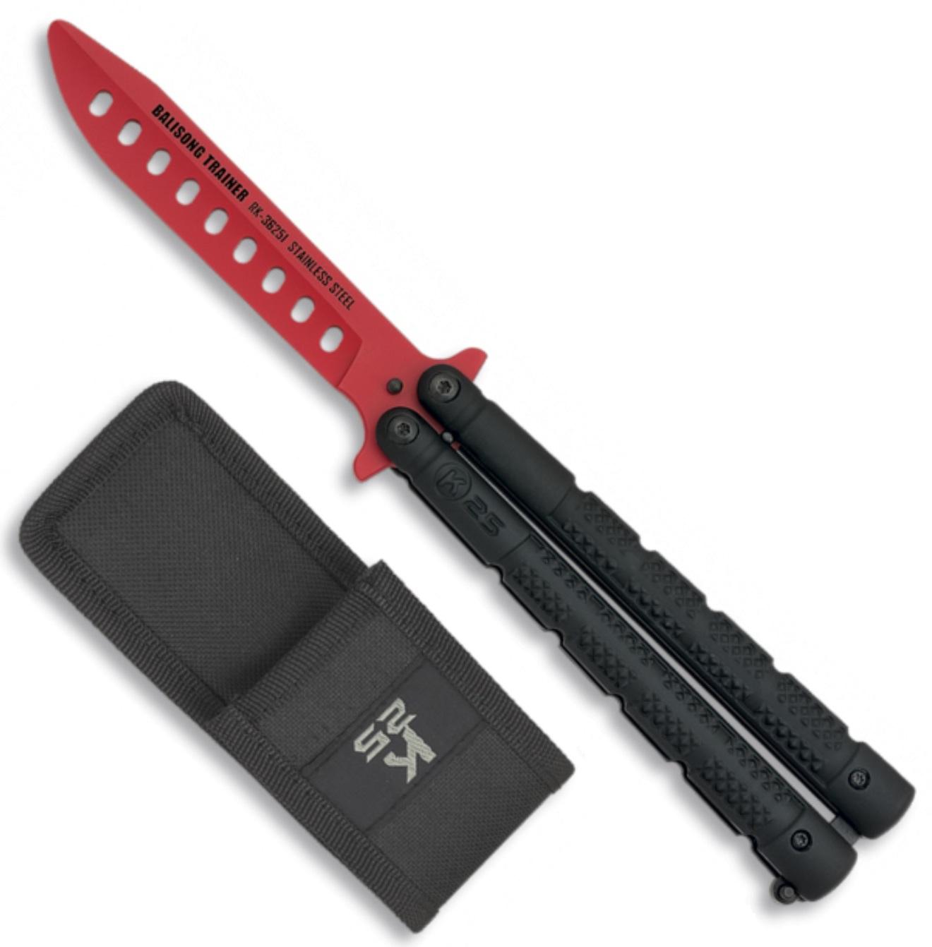Balisong couteau papillon 22,5cm - Entrainement titane K25
