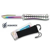 Balisong rainbow 23,2cm couteau papillon + housse
