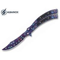 Couteau papillon balisong 23cm multicolore - ALBAINOX