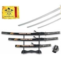 Lot 3 katanas arme + socle déco - katana design Samouraï
