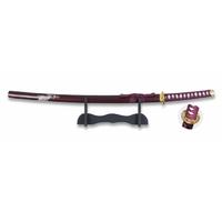 Katana arme 92,5cm + socle déco - Design guerrière.