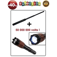 Lot Taser 50 000 000 volts + Matraque 50,5cm = PROMO -40%