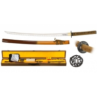 Coffret katana tranchant 105cm avec lame carbone - accessoires