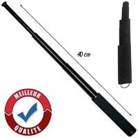 Matraque télescopique 40cm acier premium baton