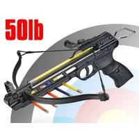 Arbalète pistolet 50 livres aluminium + 2 flèches - ANGLO ARMS