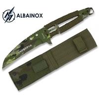 Couteau full tang acier 21,2cm militaire - ALBAINOX