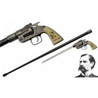 Canne épée WYATT EARP revolver 93,5cm de marche