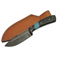 Couteau damas poignard 20,2cm full tang - Corne