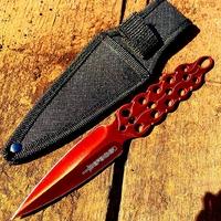 Couteau de lancer design 20,2cm rouge - Full tang acier