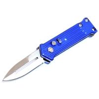 Couteau automatique à cran d'arrêt compact 11,5cm bleu