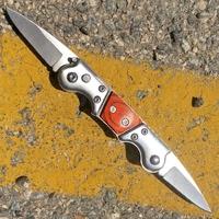 Couteau automatique 2 lames à cran d'arrêt 17,2cm