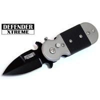 Couteau automatique à cran d'arrêt 12,5cm compact noir