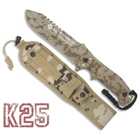 Poignard couteau 27,2cm full tang titane K25 cam