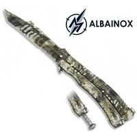 Couteau papillon balisong 22,5cm Serpent - ALBAINOX