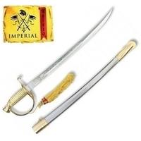Epée sabre cavalerie 50,5cm laiton IMPERIAL + socle bois