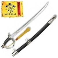 Epée sabre cavalerie 50,5cm acier IMPERIAL + socle bois