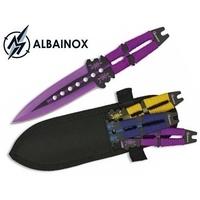 3 Couteaux de lancer 19cm multicolore ALBAINOX