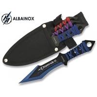 3 Couteaux de lancer 17cm multicolore ALBAINOX