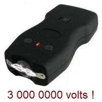 Taser shocker 3 000 000 volts LED + étui - tazer noir