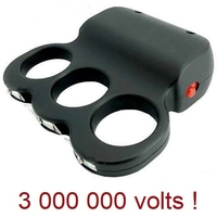 Taser compact poing américain - Tazer 3 000 000 volts !