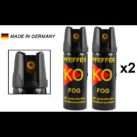 Lot de 2 bombes lacrymogènes 60ml GAZ Lacrymo KO